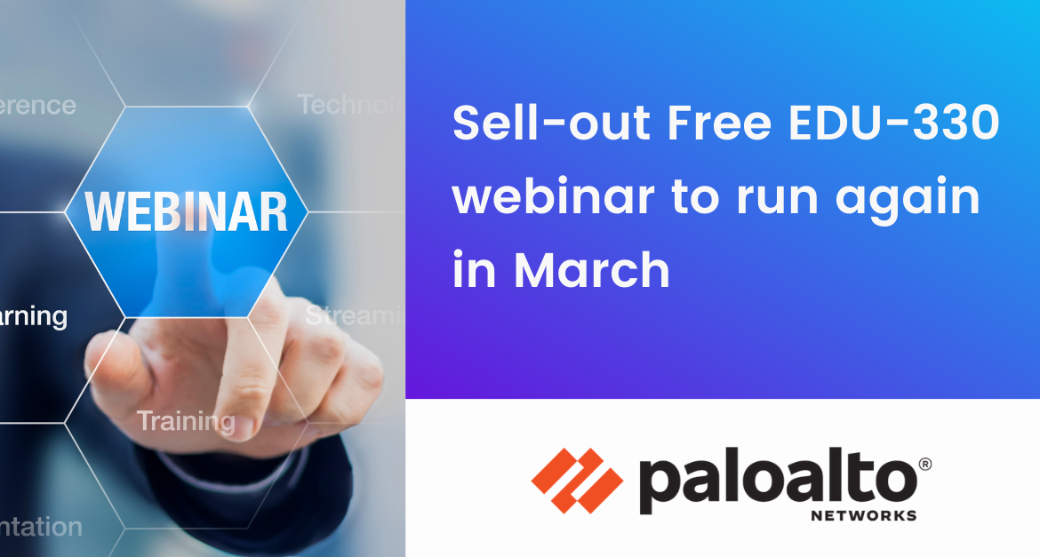 Sell-out Free EDU-330 webinar to run again in March